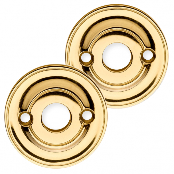 Rosettes (set) Brass - ø58mm