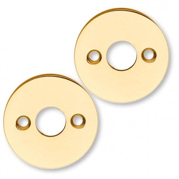Messing rosetter - ø50x2mm - ø15mm - cc30mm