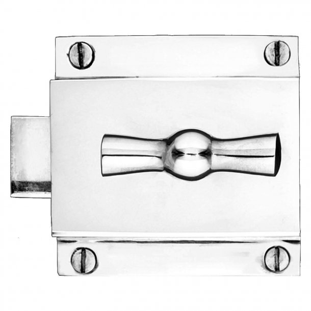 Toilet Lock case + Busy / Free - Chrome Plated
