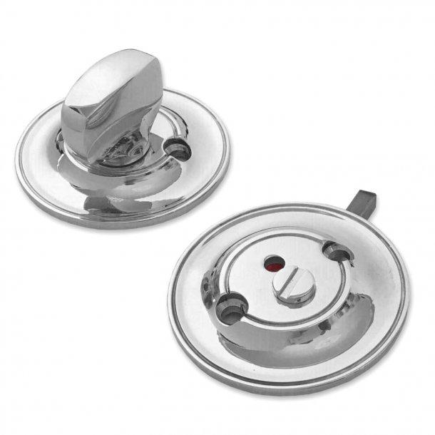 Toiletbesætning - Vrider og rød/hvid markering - Søe-Jensen & Co. - Krom
