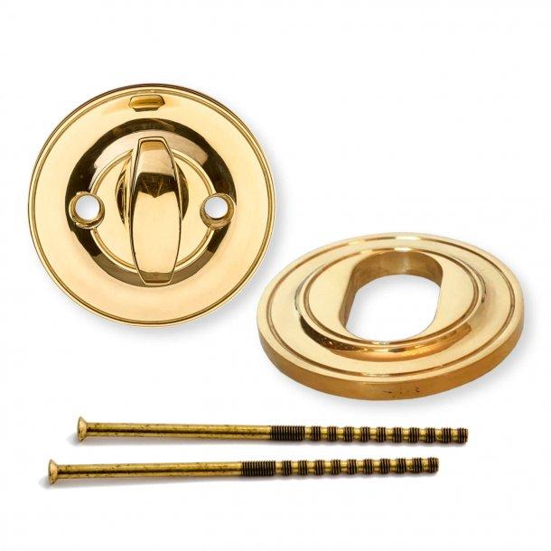 Dørhåndtag udendørs - Messing - Klassisk Vrider og Cylinderring - ULLMAN 123mm