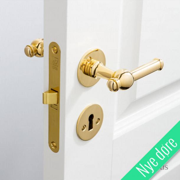 Dørgreb indendørs - Messing - Glatte rosetter og nøgleskilte - CREUTZ 94 mm - Nye døre