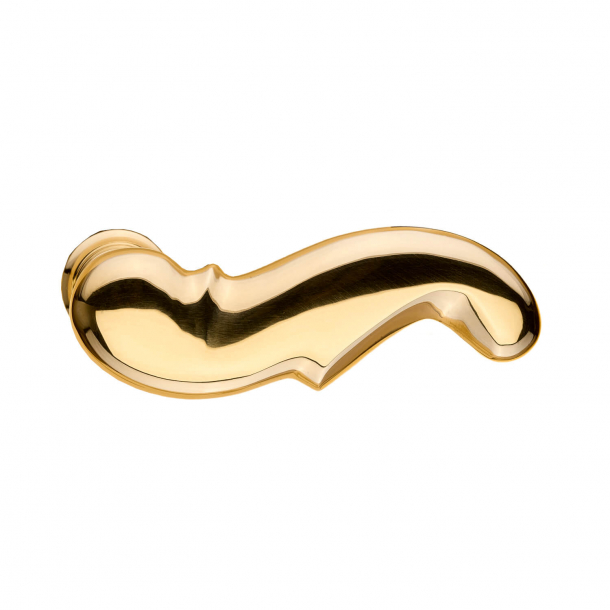 Door handle (set) - Brass - WEINGARDEN 97 mm
