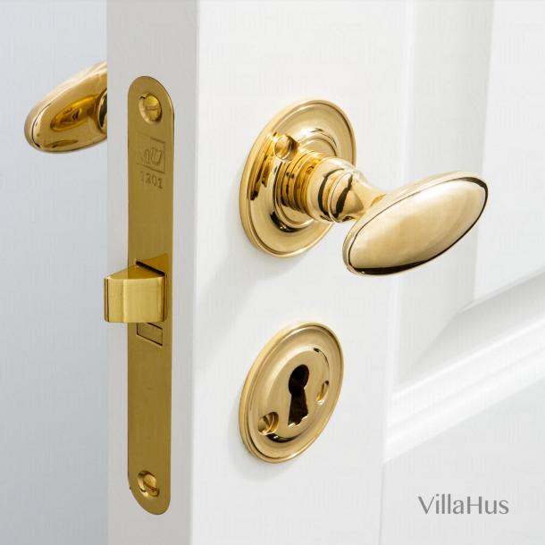 Door handle Brass Interior - BLENHEIM - Rosette and escutcheon (SJ08-035)