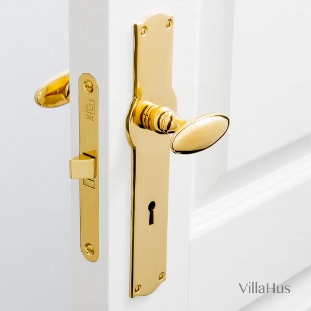 Door handle brass - BLENHEIM incl. back plate/keyhole