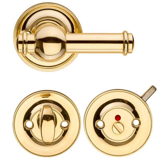 Dørgreb indendørs m/ Toiletbesætning - Messing - CREUTZ 94 mm