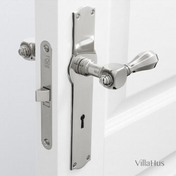 Türgriff - Innenbereich - Langschild mit Schlüsselloch - Nickel glänzend - MEDICI