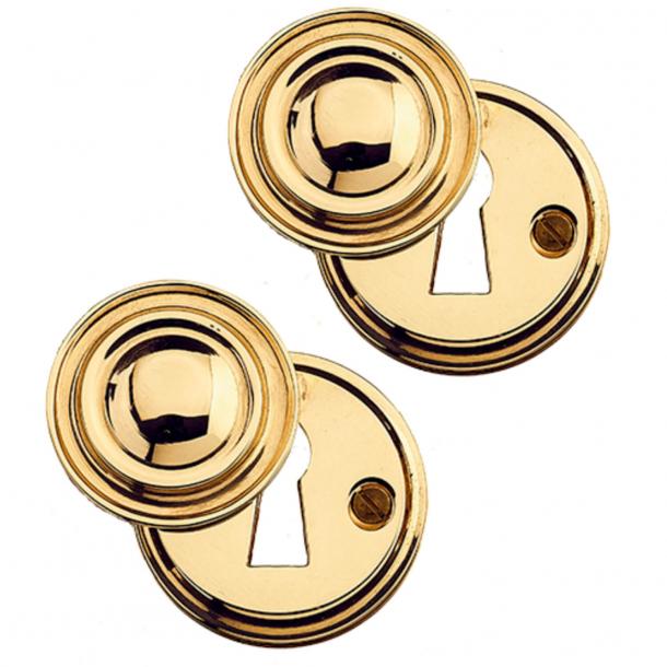 Key plates with flap (set) Brass - Wood screws - cc38mm