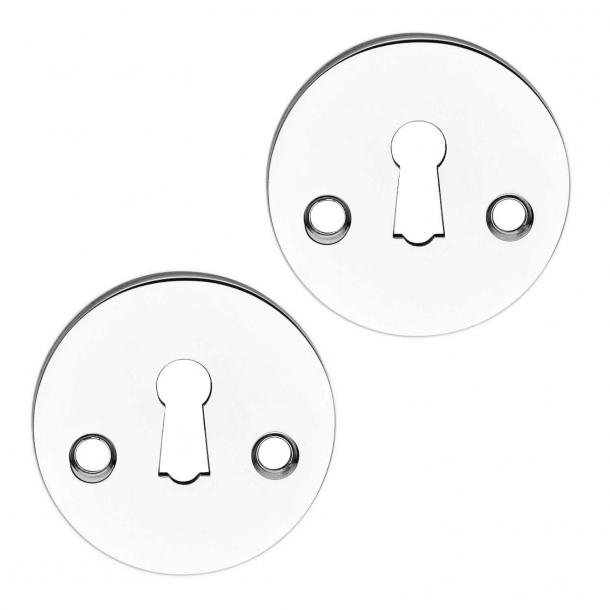 Schlüsselrosetten - Coupé Griff - Chrom
