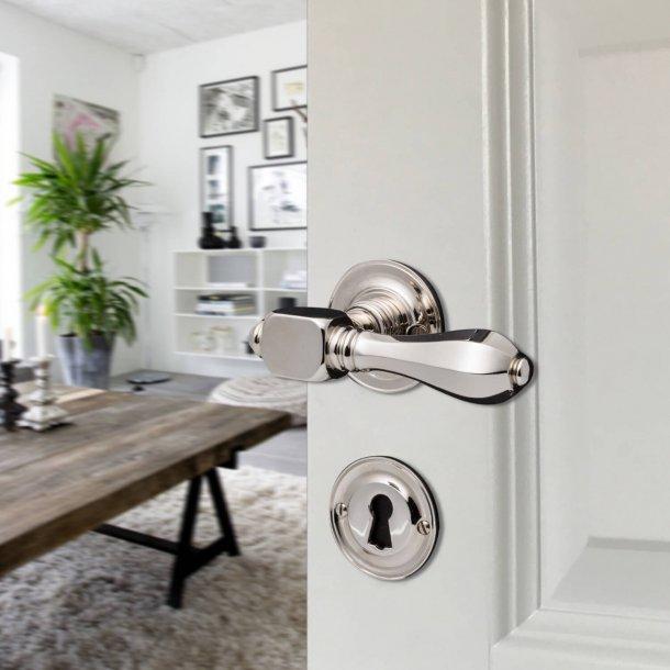 Dørhåndtag indendørs - MEDICI - Blank forniklet 120 mm
