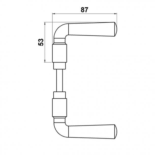 Door handle interior GENON - Classic Danish, Brass