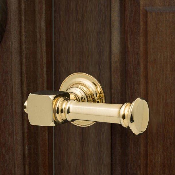Door handle exterior - NEUMAN brass 135 mm