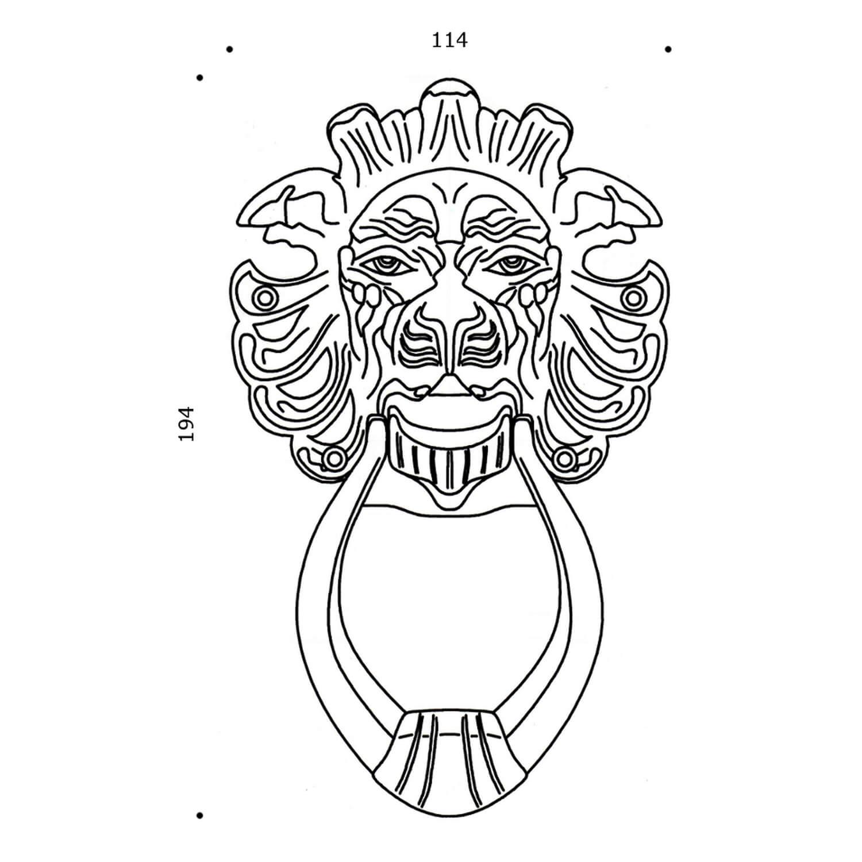 Door Knocker Lion Head Brass 194 X 114 Mm Door Knocker