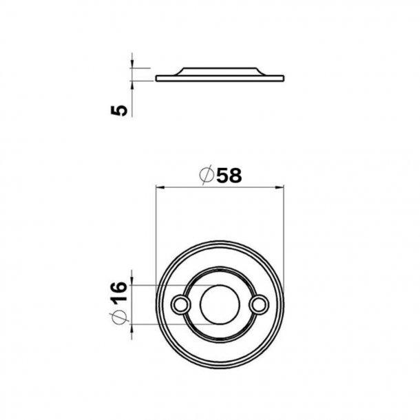 Door handle exterior - WEINGARDEN brass