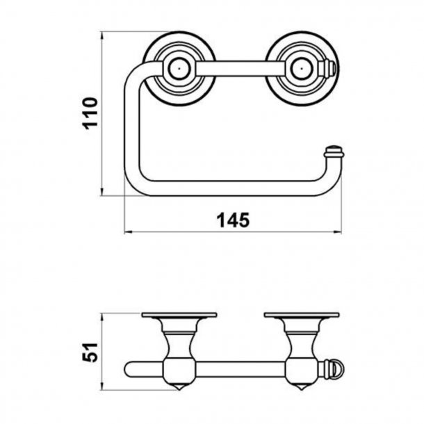 Toilettenpapierhalter - Messing - Doppel - Modell TB21