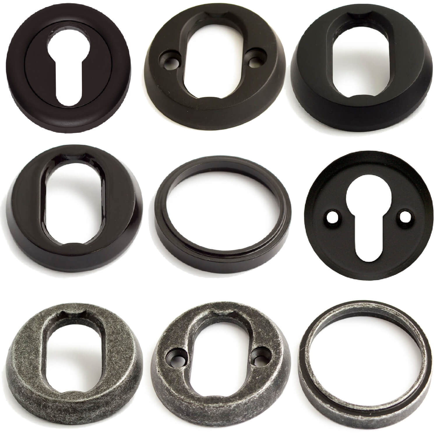Cylinder Rings - Black / Tin