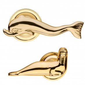 Dolphin and Walrus Door Handles