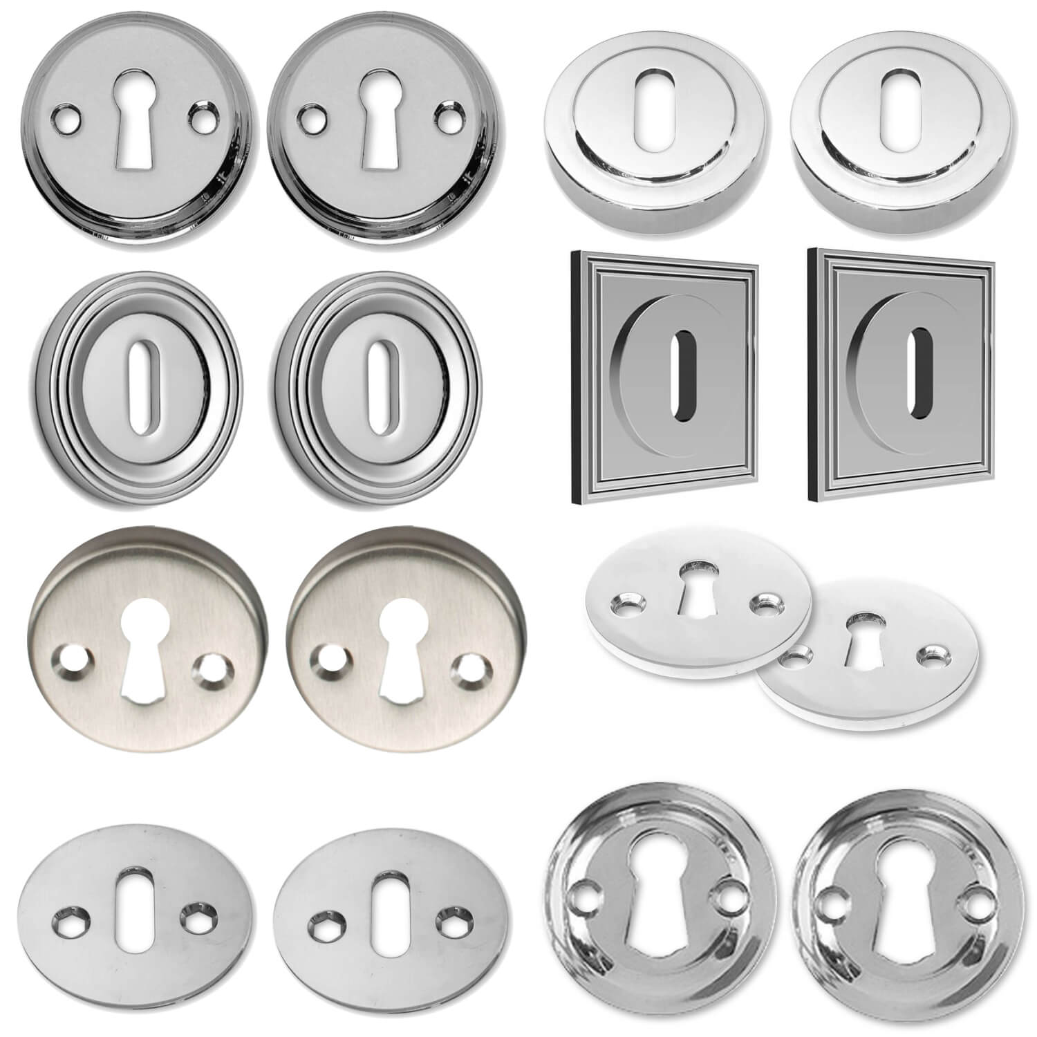 Escutcheon - Chrome & Nickel