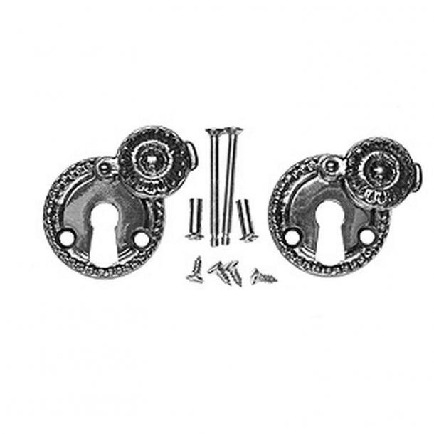 Nyckelskylt 1671 A Almue - Nya dörrar - Nickel