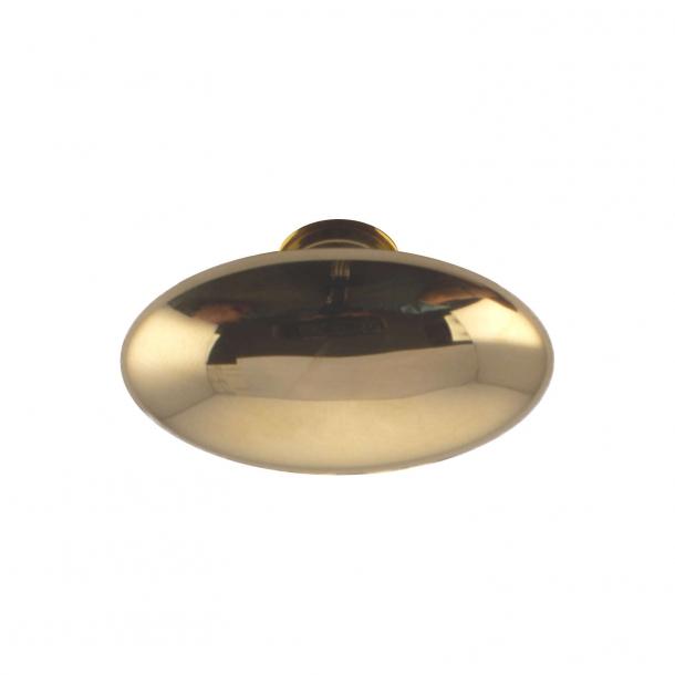 Door handle brass - almond-shaped grip