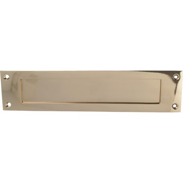 Letter plate - Polished Brass 300 x 70 mm - Model 266