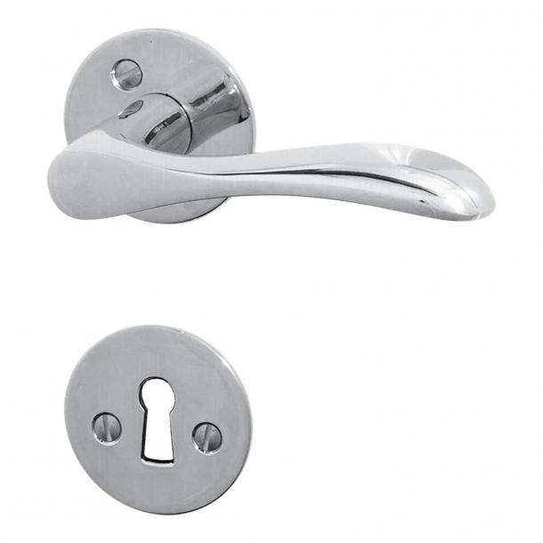Door handle interior - Chrome-plated brass (200125) - BELLEVUE