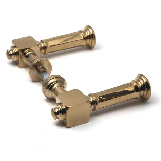 Door handles - Brass - Scandinavian classic - Without rosettes - Model JÆGERSBORG