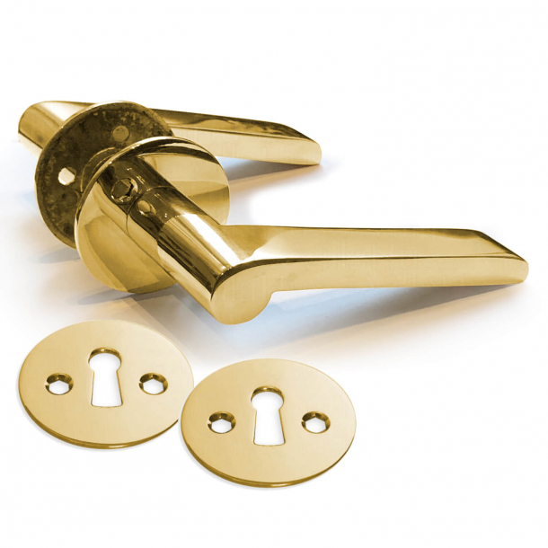 Door handle interior - Brass without lacquer (230270) - VALLERØD