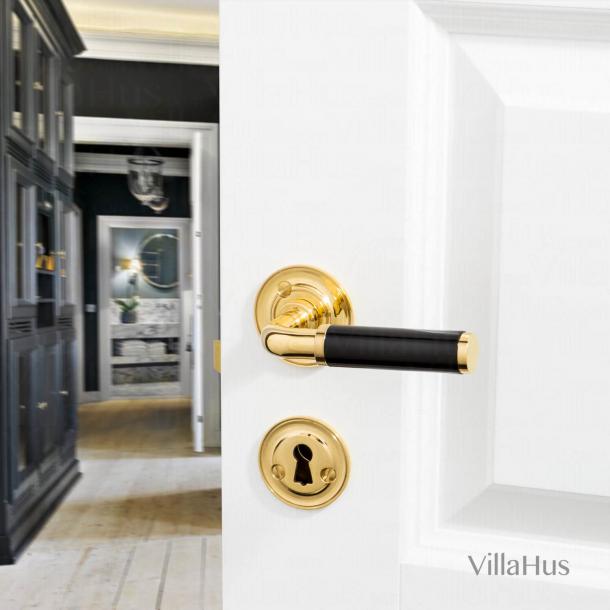 FUNKIS door handle interior - Brass and black Bakelite - Ornamented - Model 383