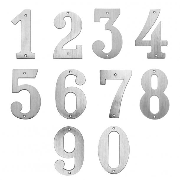 Hausnummern - Nickel, Matt -140 mm - Modell 572