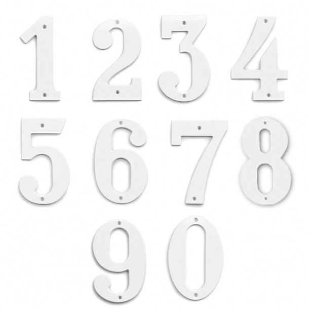 Hausnummer - weiß - 140 mm, Modell 572
