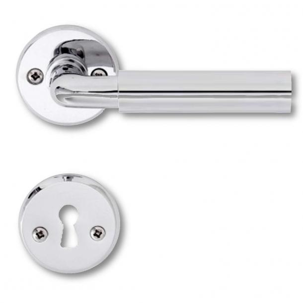 Door handle chrome and aluminium - FUNKIS