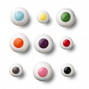 Cabinet knobs and hooks - Porcelain - DOT