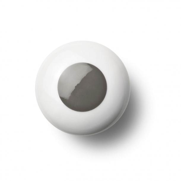 Uchwyt meblowy - Porcelana - 45 x 30 mm - Szary - Model DOT