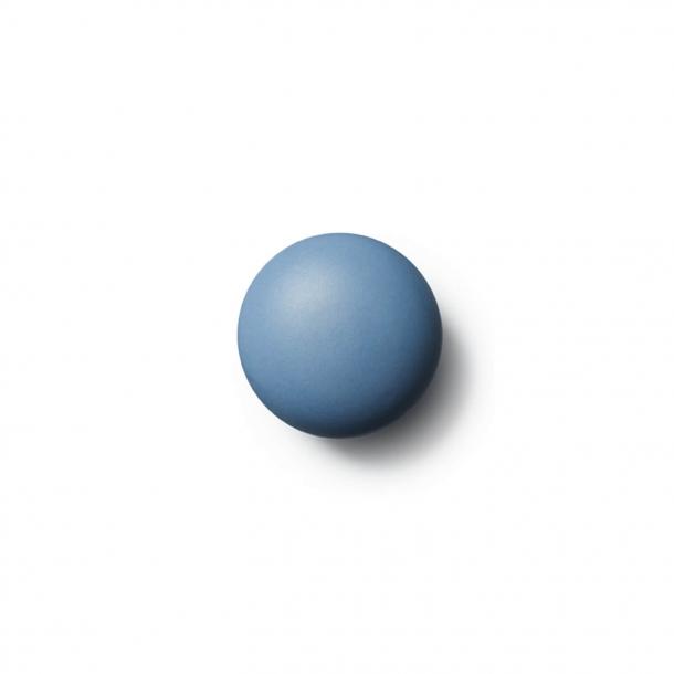 Möbelknapp eller krok - Anne Black Porslin - 30 x 30 mm - Blå - Modell MAT