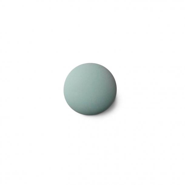 Cabinet knob or hook - Anne Black Porcelain - 30 x 30 mm - Green - Model MAT