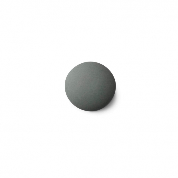 Furniture knob or hook - Anne Black Porcelain - 30 x 30 mm - Jade - Model MAT