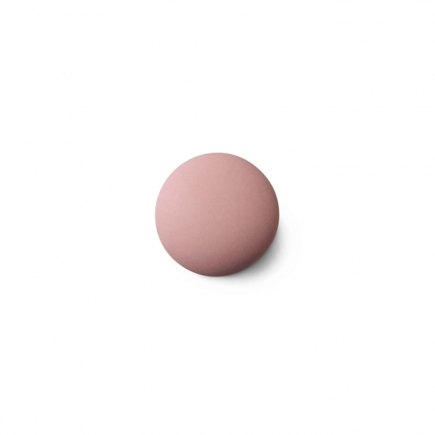 Cabinet knob or hook - Anne Black Porcelain - 30 x 30 mm - Pink - Model MAT