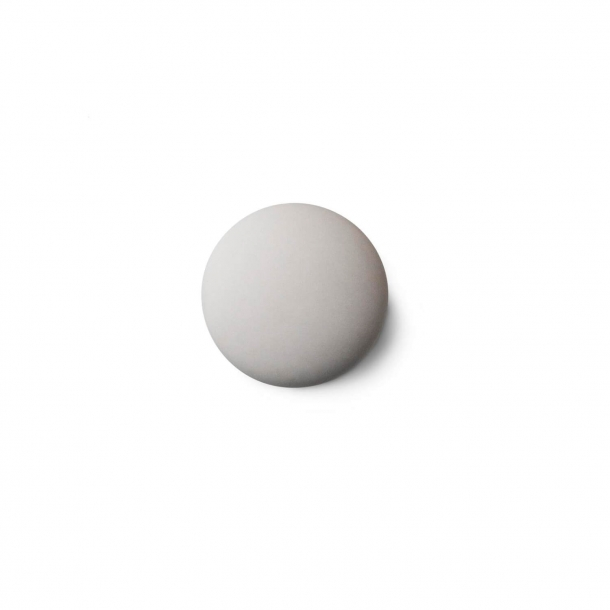 Furniture knob or hook - Anne Black Porcelain - 30 x 30 mm - White - Model MAT