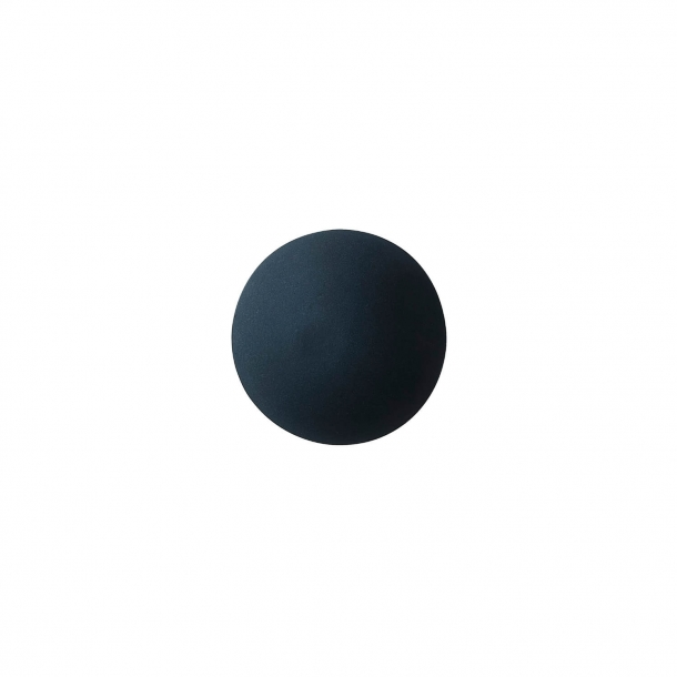 Cabinet knob or hook - Anne Black Porcelain - 30 x 30 mm - Black - Model PLAIN