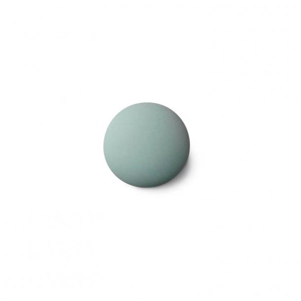 Uchwyt meblowy - Porcelana - 30 x 30 mm - Zielony - Model MAT