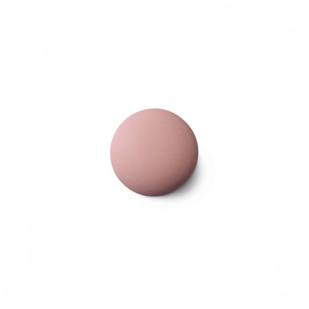 Uchwyt meblowy - Porcelana - Anne Black - 30 x 30 mm - Różowy - Model MAT