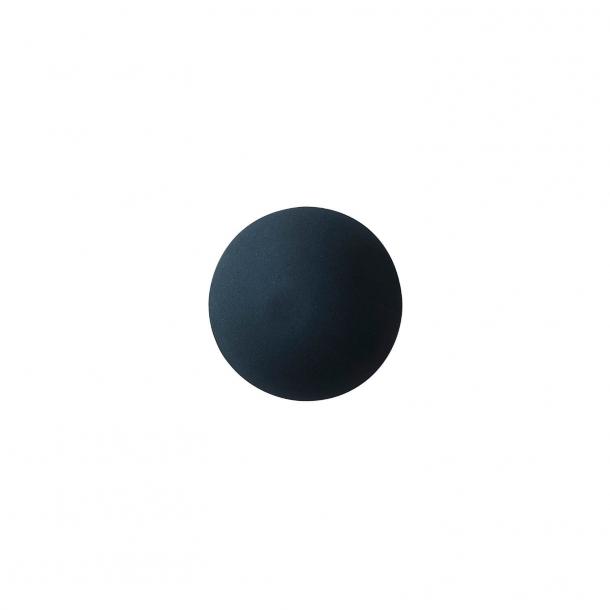 Uchwyt meblowy - Porcelana - Anne Black - 30 x 30 mm - Czarny - Model PLAIN