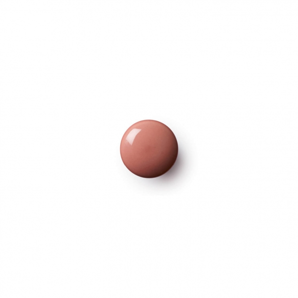 Cabinet knob or hook - Anne Black Porcelain - 30 x 30 mm - Coral - Model PLAIN