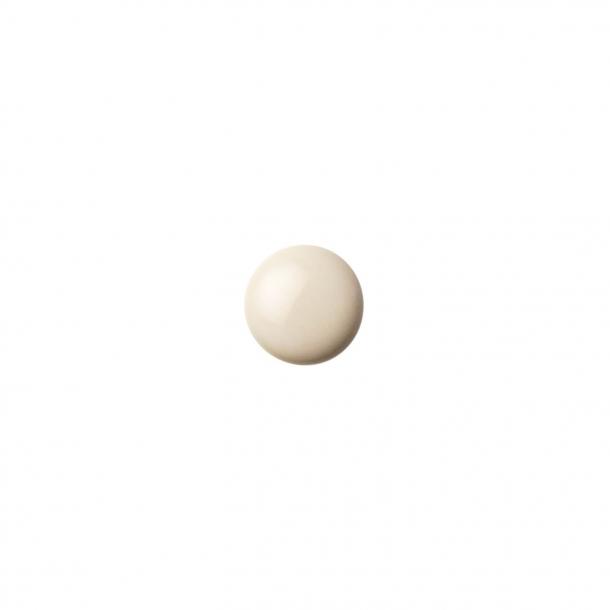 Möbelknopf oder -haken - Anne Black Porzellan - 30 x 30 mm - Creme - Modell PLAIN