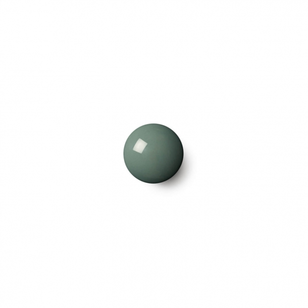 Cabinet knob or hook - Anne Black Porcelain - 30 x 30 mm - Petrol - Model PLAIN