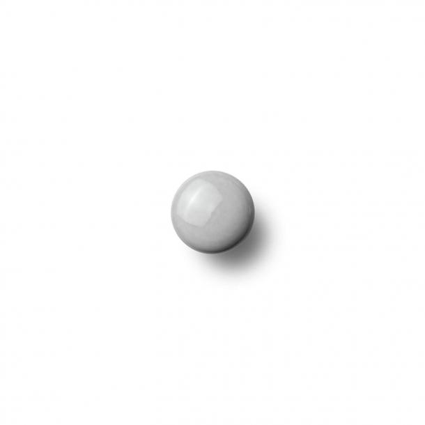 Möbelknapp eller krok - Anne Black Porslin - 30 x 30 mm - Grå - Modell PLAIN