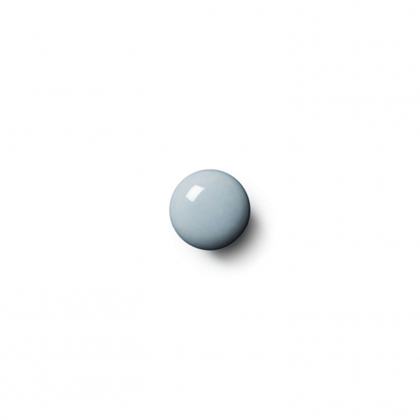 Uchwyt meblowy - Porcelana - Anne Black- 30 x 30 mm - Niebieski - Model PLAIN
