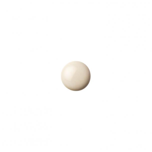 Uchwyt meblowy - Porcelana - Anne Black - 30 x 30 mm - Kremowy - Model PLAIN