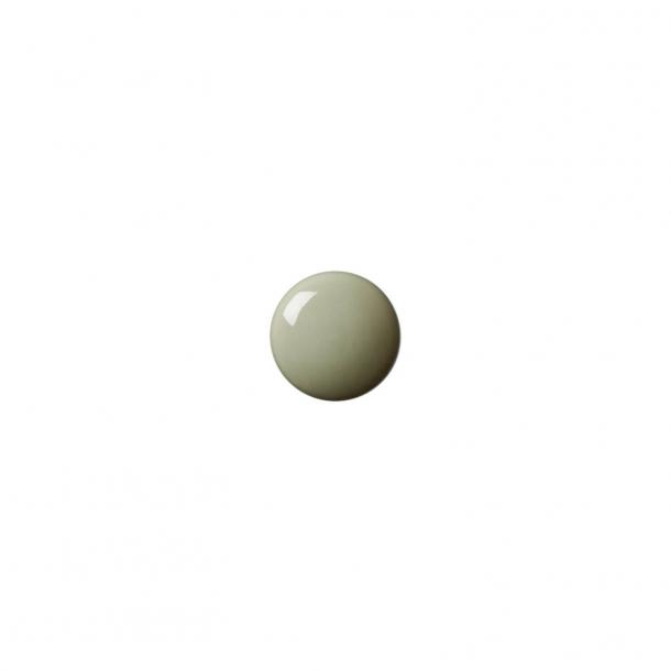 Uchwyt meblowy - Porcelana - Anne Black - 30 x 30 mm - Zielony - Model PLAIN